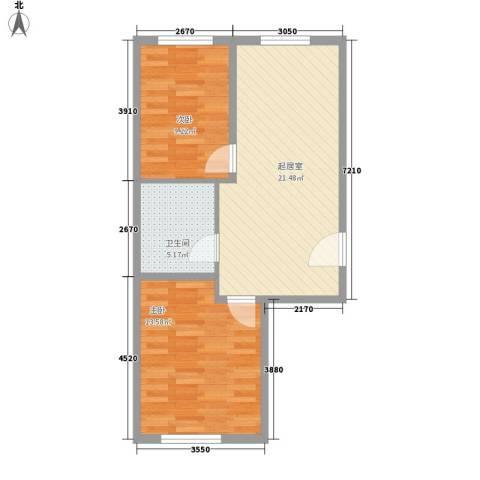 东方新村2室0厅1卫0厨69.00㎡户型图
