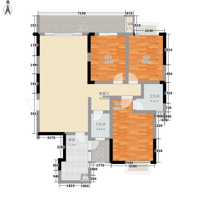 万象城益佳苑125.60㎡2#3#4#B户型3室2厅2卫1厨