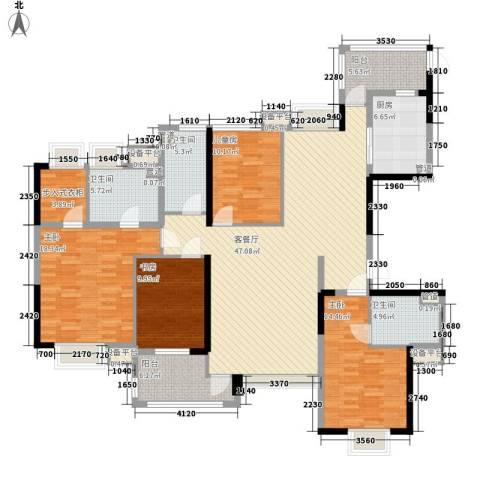 中信凯旋公馆4室1厅3卫1厨173.00㎡户型图