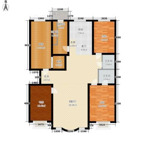 皇城东苑二期3室1厅2卫0厨162.00㎡户型图