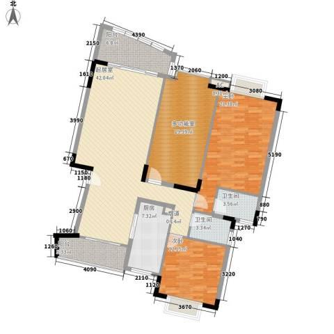 翰林国际2室0厅2卫1厨136.00㎡户型图