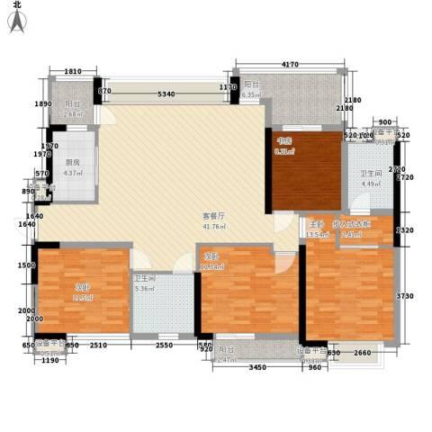 中信凯旋公馆4室1厅2卫1厨139.00㎡户型图