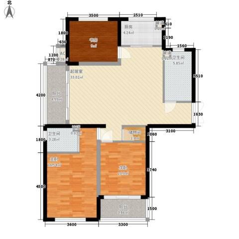 白马服装城3室0厅2卫1厨93.73㎡户型图