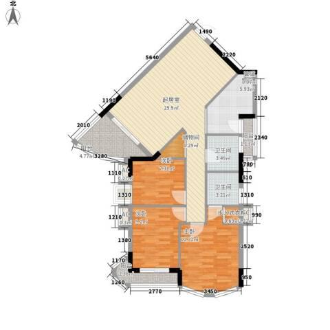 金逸雅居3室0厅2卫1厨119.00㎡户型图