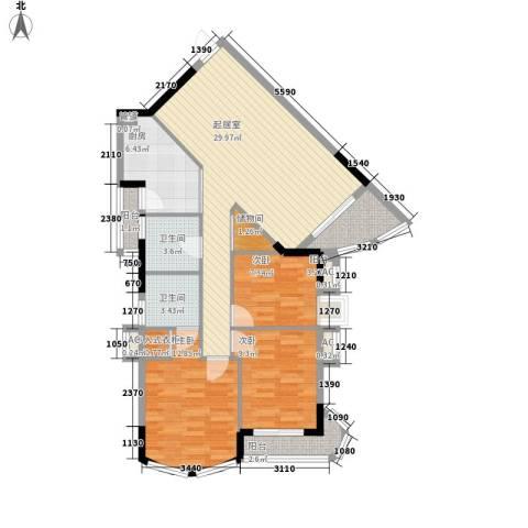 金逸雅居3室0厅2卫1厨120.00㎡户型图