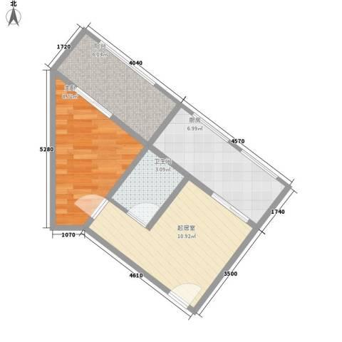 巧克力公寓1室0厅1卫1厨56.00㎡户型图