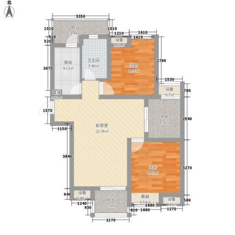 百大春城2室0厅1卫1厨89.00㎡户型图