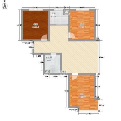 世博家园3室0厅1卫1厨121.00㎡户型图