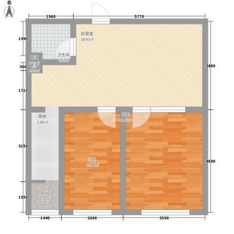 世博家园2室0厅1卫0厨86.00㎡户型图