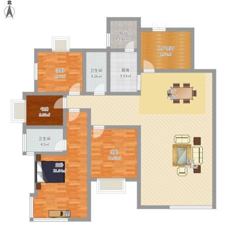 中建康城4室1厅2卫1厨189.00㎡户型图