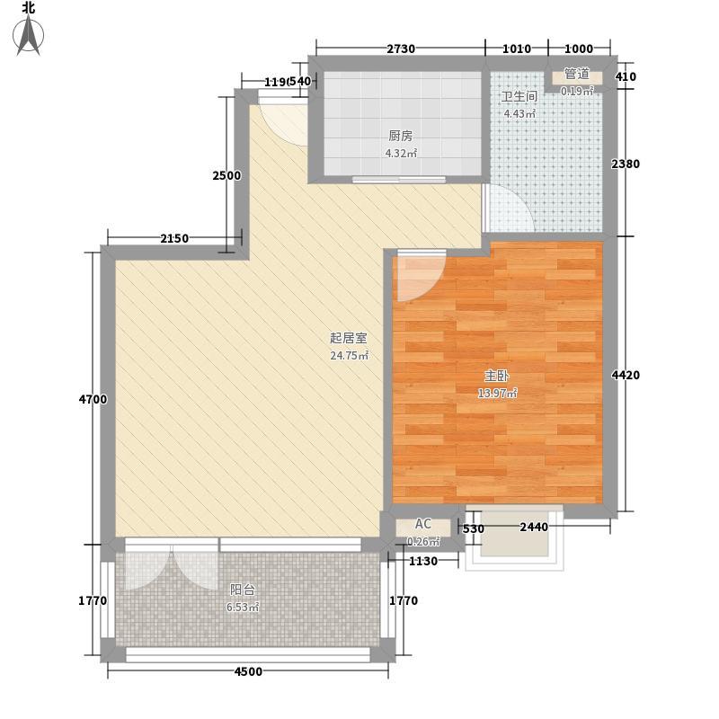 万城华府别墅联合公馆K户型1室1厅1卫1厨