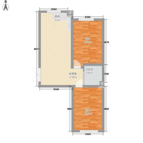 世纪馨园2室0厅1卫0厨76.00㎡户型图