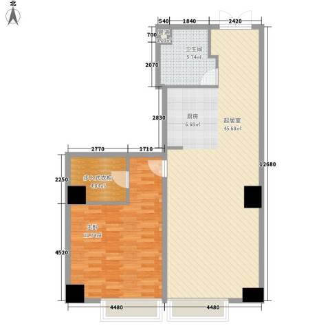 璞俪公馆1室0厅1卫0厨109.00㎡户型图