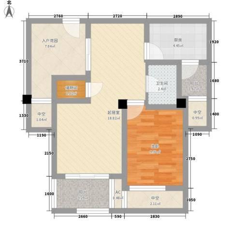 御景湾1室0厅1卫1厨82.00㎡户型图