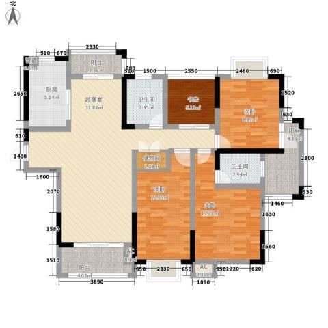 大唐金城4室0厅2卫1厨144.00㎡户型图