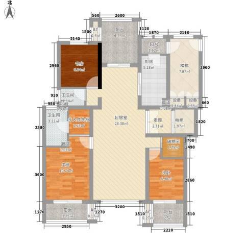 金隅乐府3室0厅2卫1厨140.00㎡户型图