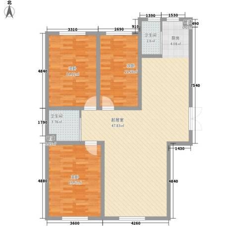 世纪馨园3室0厅2卫0厨127.00㎡户型图