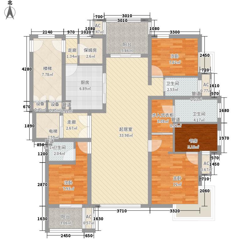 金隅乐府170.00㎡金隅乐府户型图170平米户型3室2厅3卫1厨户型3室2厅3卫1厨