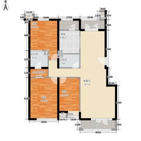 保利西山林语别墅3室1厅2卫1厨163.00㎡户型图