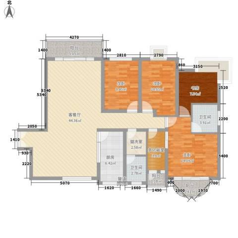 沁园春4室1厅2卫1厨162.00㎡户型图