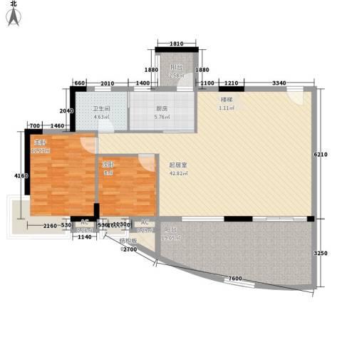 海韵假日休闲公寓2室0厅1卫1厨204.00㎡户型图
