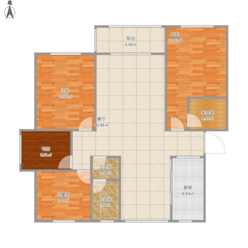 欧景明城28栋401室方案二