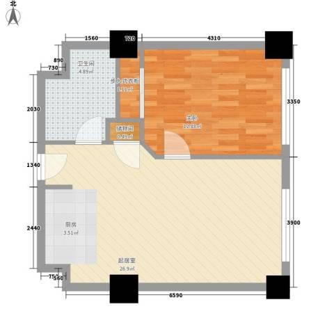 乐成豪丽1室0厅1卫0厨65.00㎡户型图
