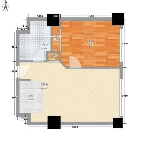 乐成豪丽1室0厅1卫0厨62.00㎡户型图
