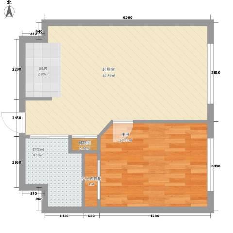 乐成豪丽1室0厅1卫0厨64.00㎡户型图