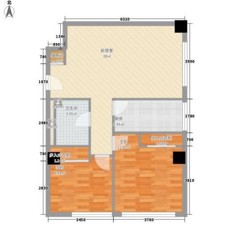乐成豪丽2室0厅1卫1厨89.00㎡户型图