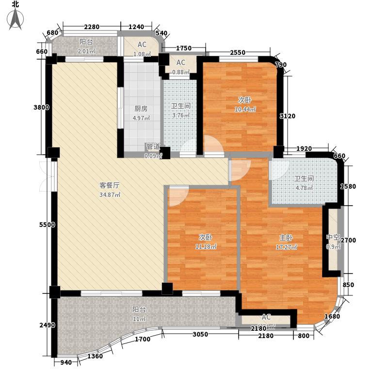 尚层建筑127.41㎡尚层建筑户型图3室2厅2卫1厨户型10室