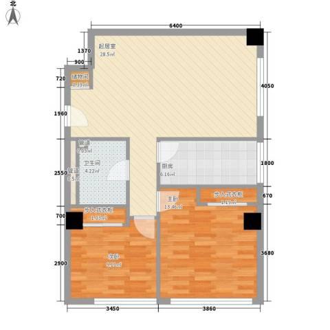 乐成豪丽2室0厅1卫1厨92.00㎡户型图