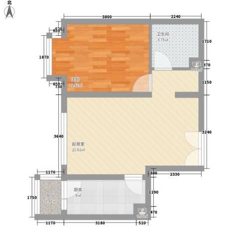 乐成豪丽1室0厅1卫1厨63.00㎡户型图