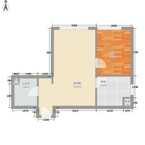 乐成豪丽1室0厅1卫1厨59.00㎡户型图