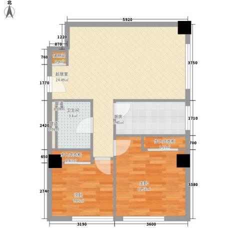 乐成豪丽2室0厅1卫1厨80.00㎡户型图