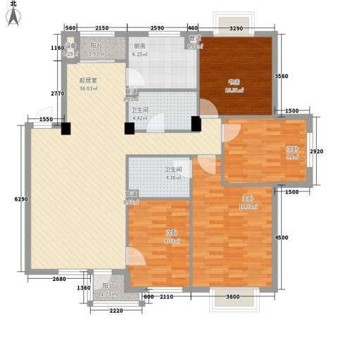 美林逸墅4室0厅2卫1厨136.00㎡户型图