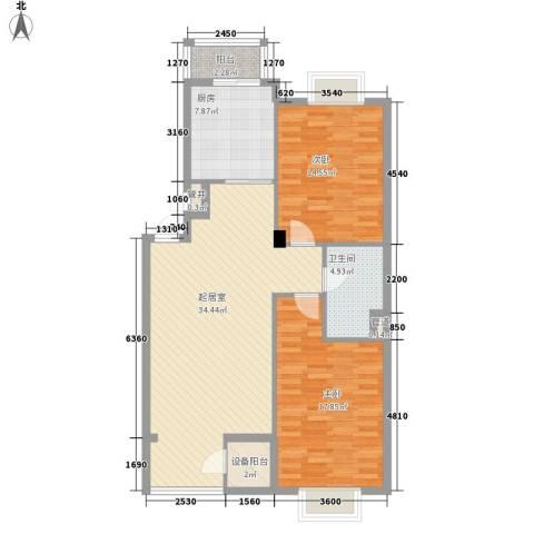 美林逸墅2室0厅1卫1厨109.00㎡户型图