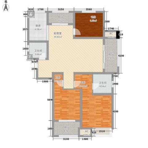 武进吾悦广场3室0厅2卫1厨128.00㎡户型图