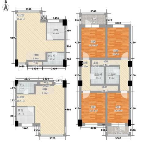 城建梦翔之家4室0厅4卫2厨139.40㎡户型图