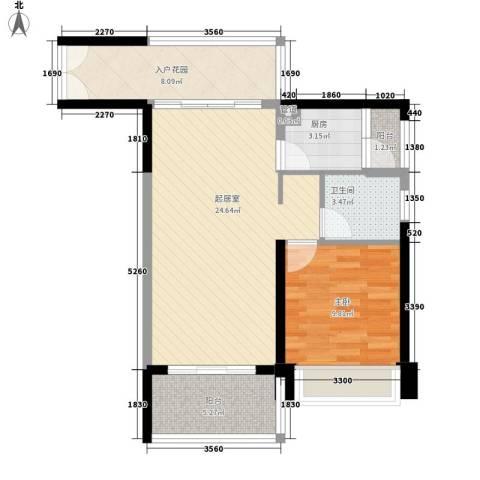 时代海岸别墅1室0厅1卫1厨81.00㎡户型图