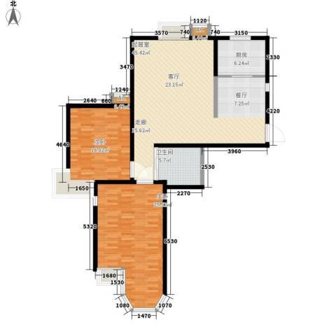 珠江峰景2室0厅1卫1厨113.00㎡户型图
