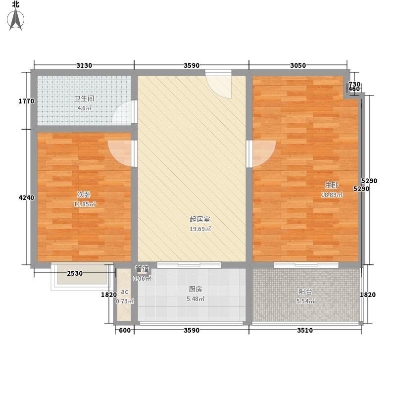 巴克公寓93.91㎡巴克公寓户型10室