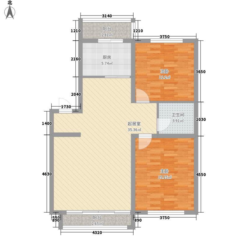 黎明西部风情89.00㎡黎明西部风情户型图2室2厅1卫户型10室