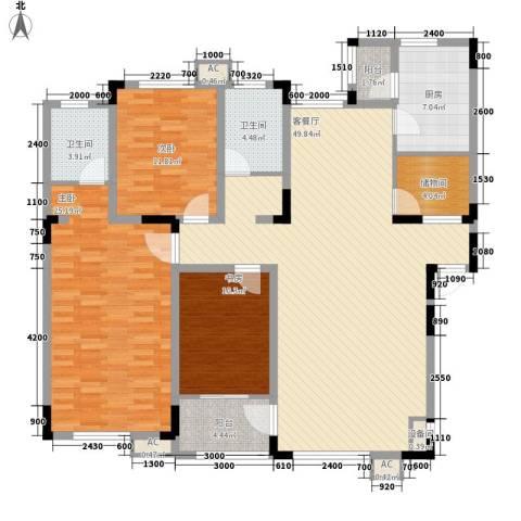 飞悦经典3室1厅2卫1厨157.00㎡户型图