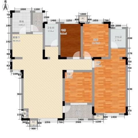 飞悦经典4室1厅2卫1厨163.00㎡户型图