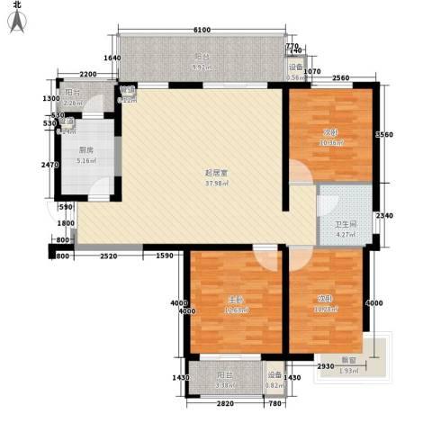 怡水花园三期3室0厅1卫1厨139.00㎡户型图