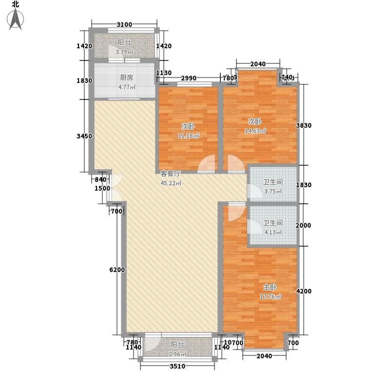 兴泰东河湾149.48㎡兴泰东河湾户型图G4-c户型3室2厅2卫1厨户型3室2厅2卫1厨