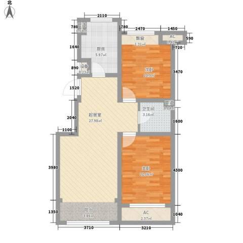 绿地世纪城2室0厅1卫1厨92.00㎡户型图