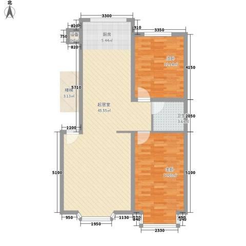 西河花苑2室0厅1卫0厨78.68㎡户型图
