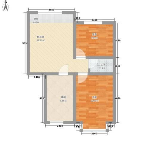西河花苑2室0厅1卫0厨73.00㎡户型图